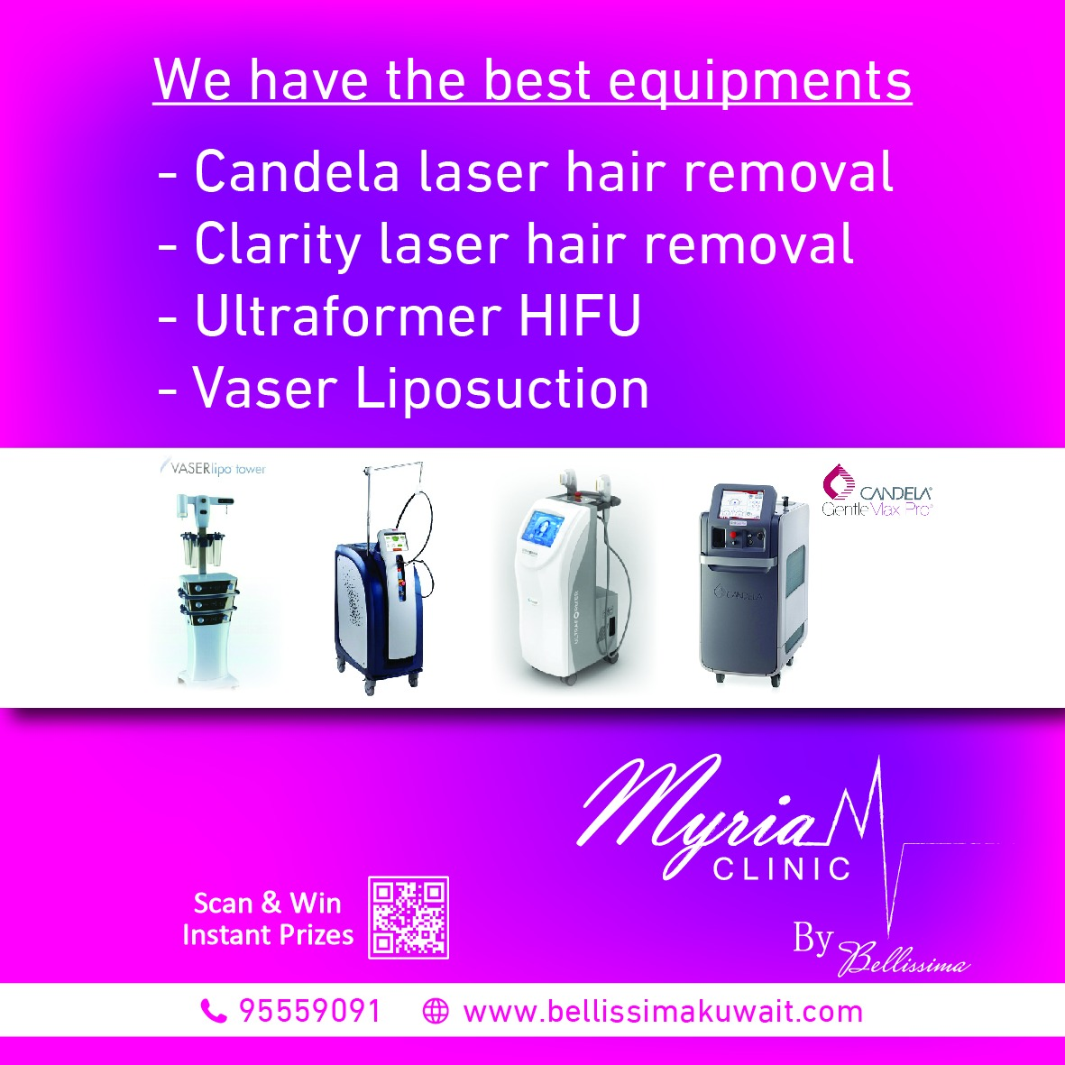 THE CLARITY - Laser Hair Removal in Kuwait. ULTRA FORMER HIFU Kuwait - High Intensity Focused Ultrasound. VASER Liposuction in Kuwait.